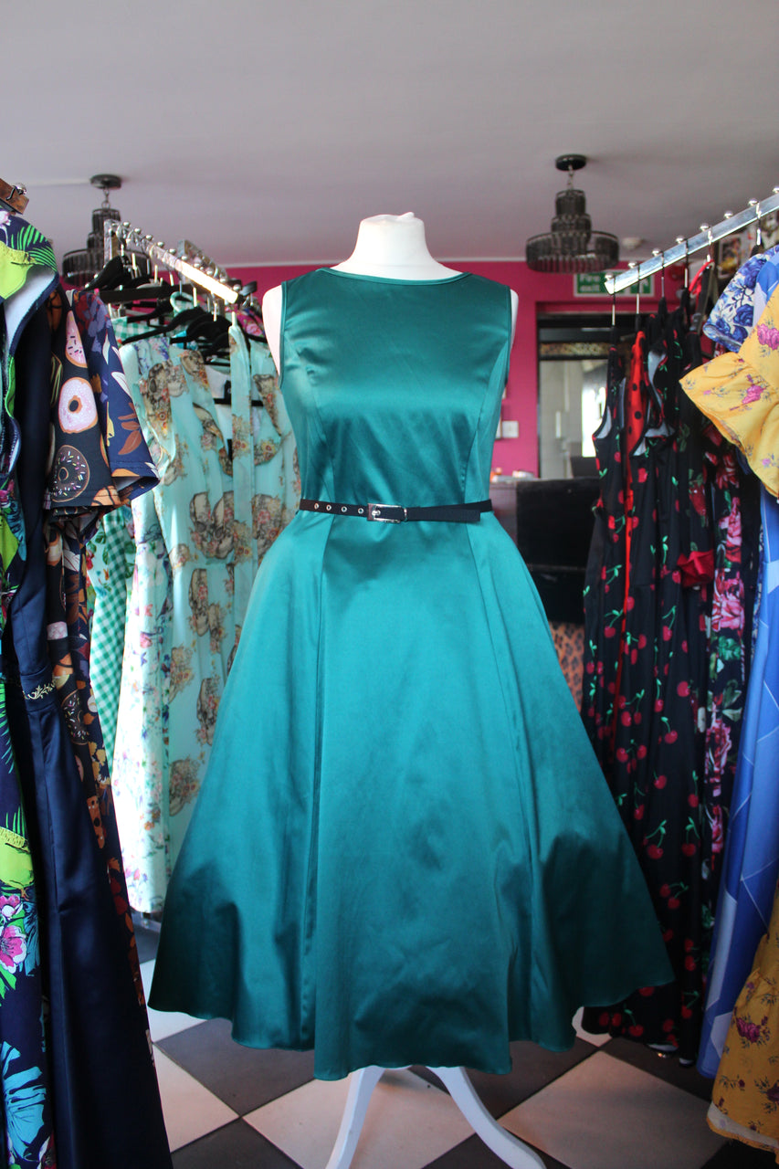 Emerald Swing Dress