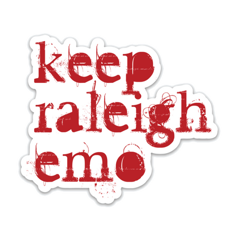 Keep Raleigh Emo Sticker
