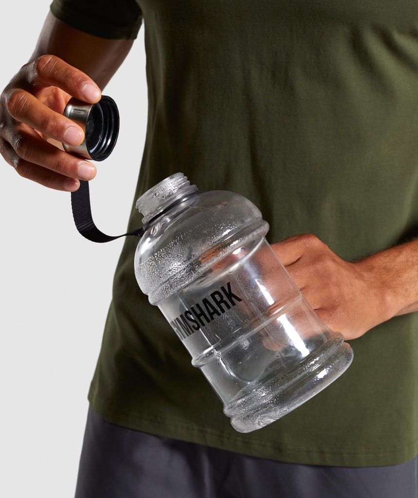 Gymshark 1.3L Water Bottle - Black Logo 1