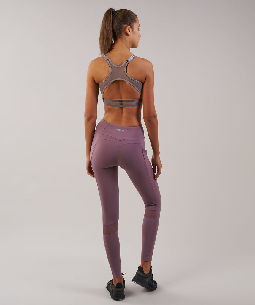 Sleek Aspire Leggings - Purple Wash 2