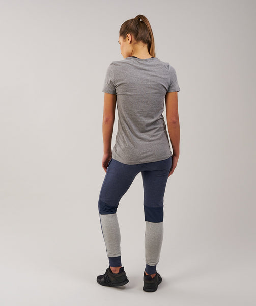 Gymshark Impulse Jogger - Sapphire Blue Marl/Light Grey