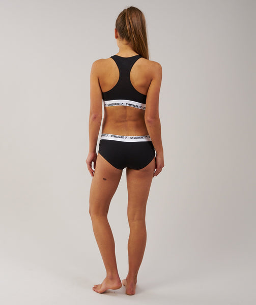 Gymshark Womens Jersey Briefs 2pk - Black 2