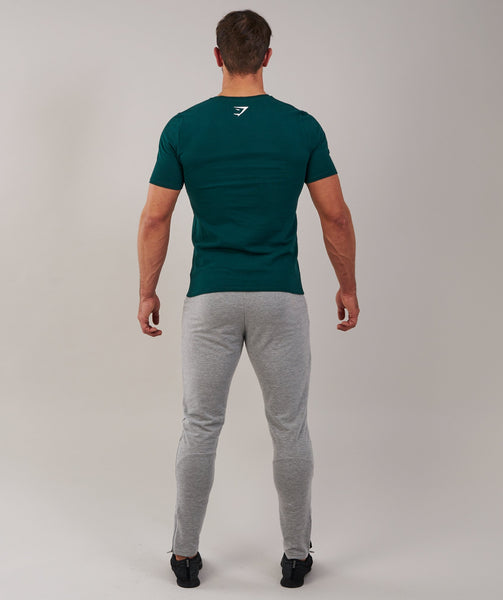 Brushed Cotton T-Shirt - Forest Green 1