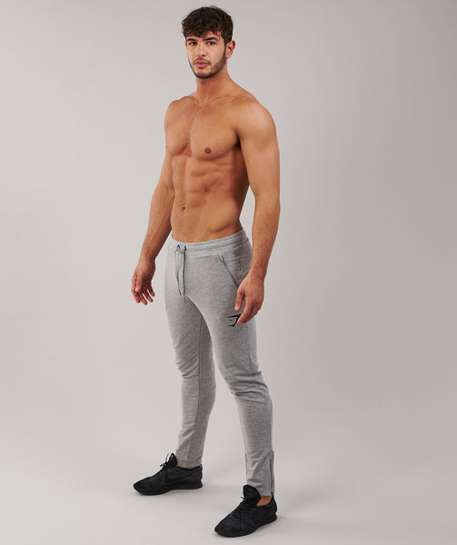 Gymshark Fit Tapered Bottoms - Light Grey Marl 2
