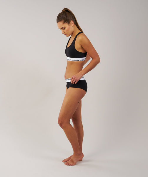 Gymshark Womens Jersey Briefs 2pk - Black 1