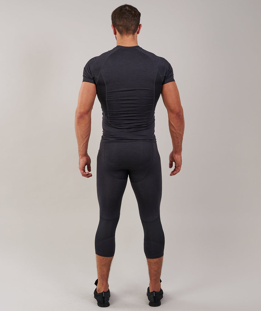 Gymshark Element Baselayer 3/4 Legging - Black Marl 2