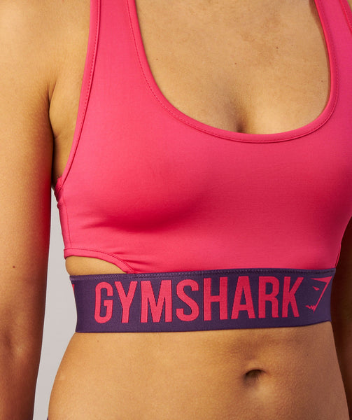 Gymshark Fit Sports Bra - Cranberry/Rich Purple 4