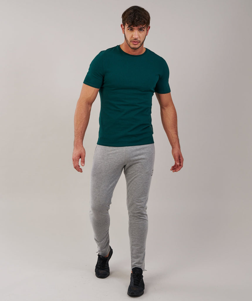 Brushed Cotton T-Shirt - Forest Green 4
