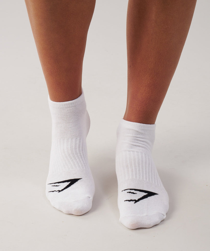 Gymshark Womens Trainer Socks 3pk - White