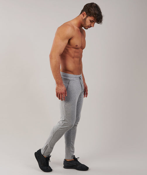 Gymshark Fit Tapered Bottoms - Light Grey Marl 4