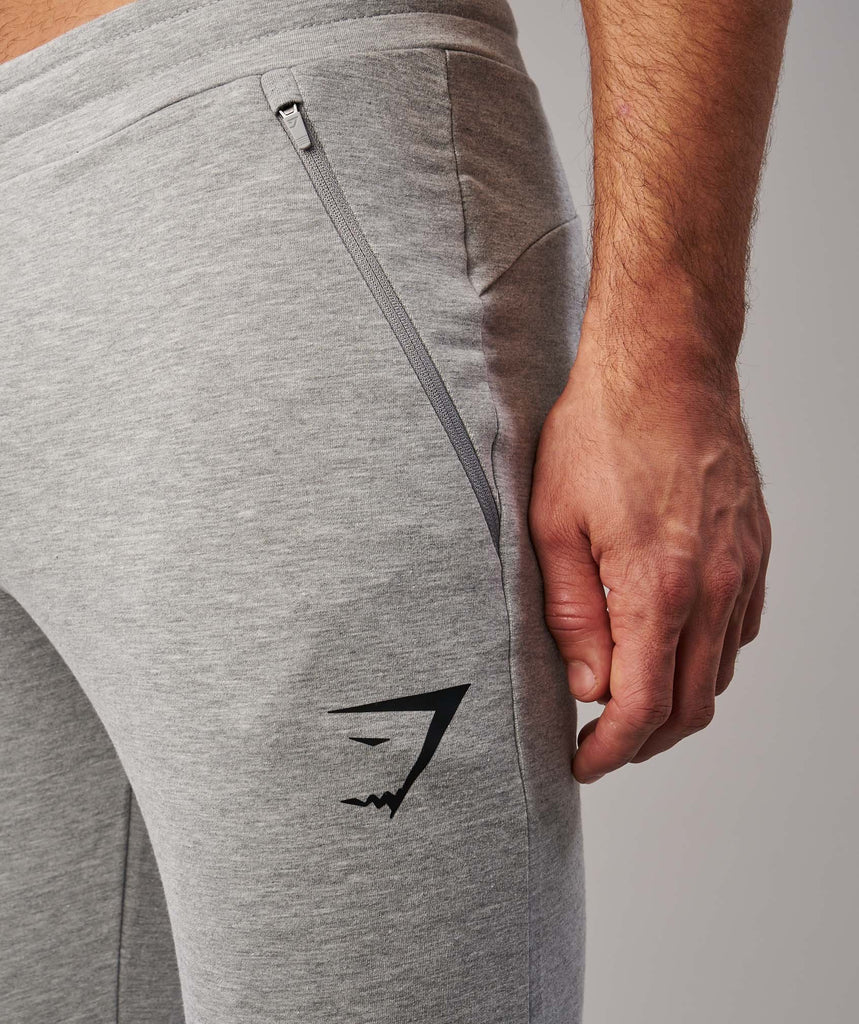 Gymshark Fit Tapered Bottoms - Light Grey Marl 5