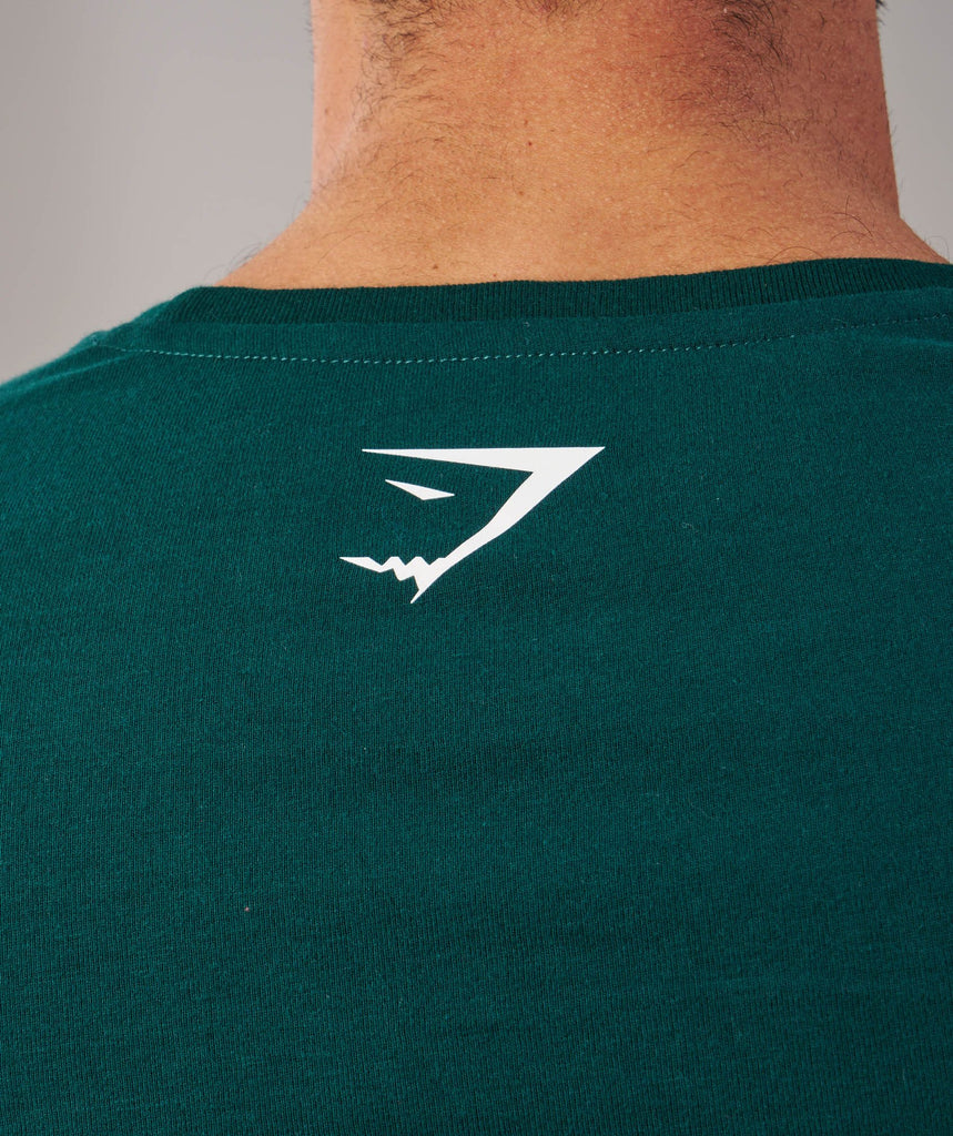 Brushed Cotton T-Shirt - Forest Green 6