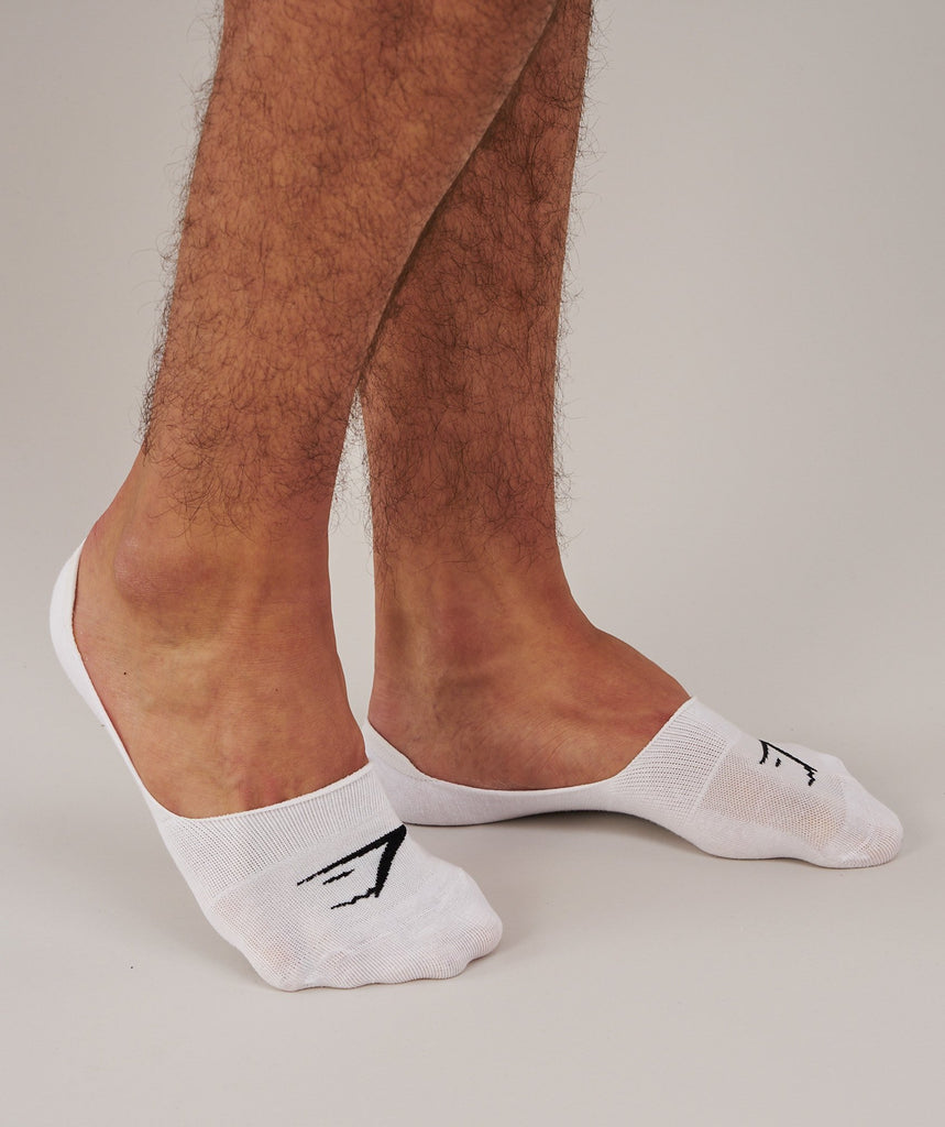 Gymshark Mens No Show Socks 3pk - White