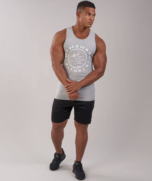 GymShark Fitness Tank - Light Grey Marl 1