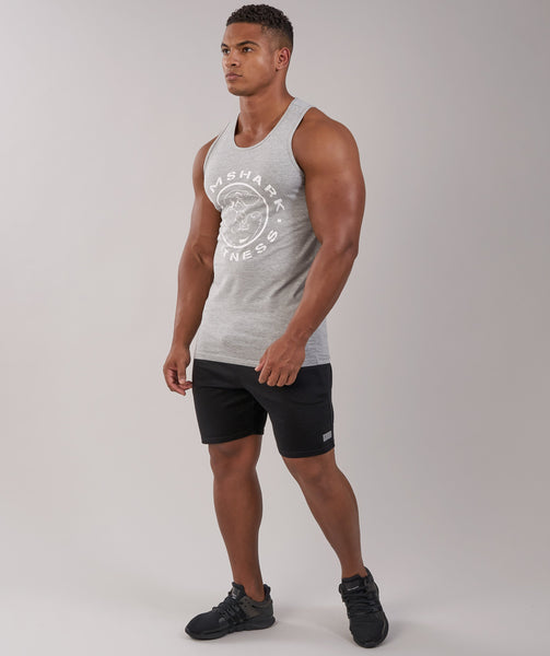 GymShark Fitness Tank - Light Grey Marl 3