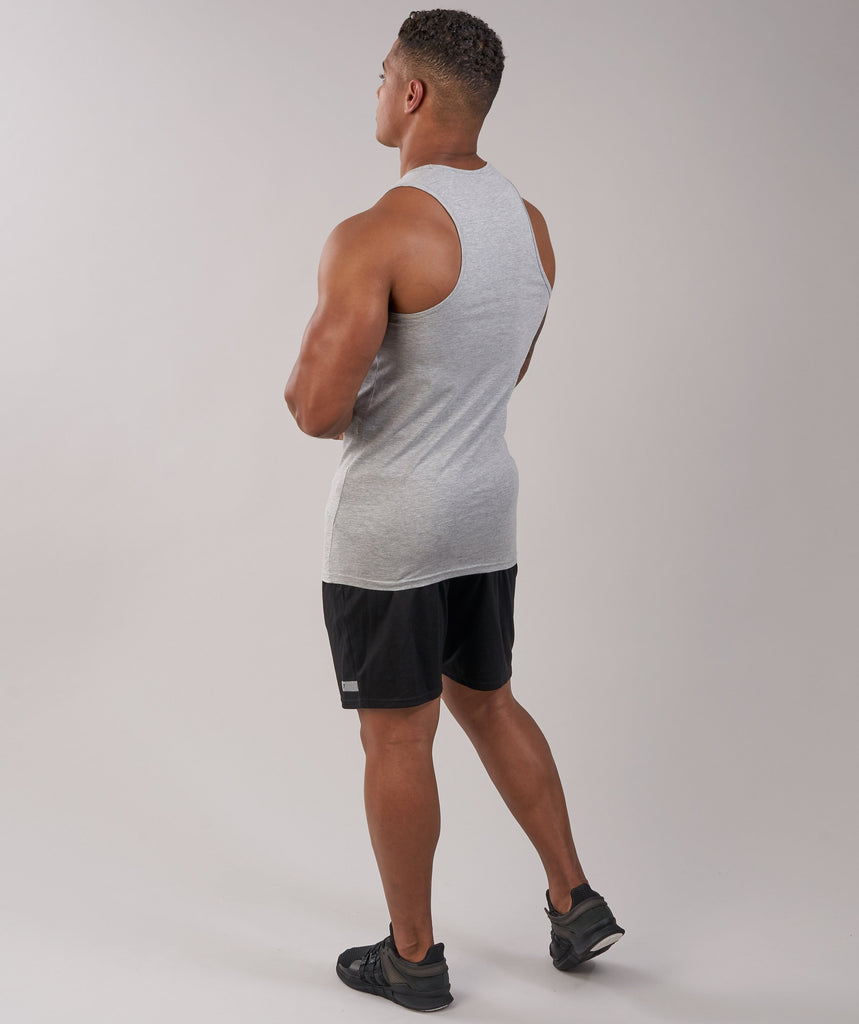 GymShark Fitness Tank - Light Grey Marl 5