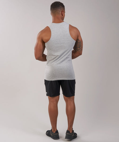 GymShark Fitness Tank - Light Grey Marl 2
