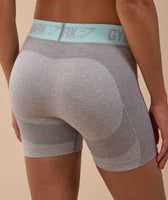 Gymshark Flex Shorts - Light Grey Marl/Pale Turquoise