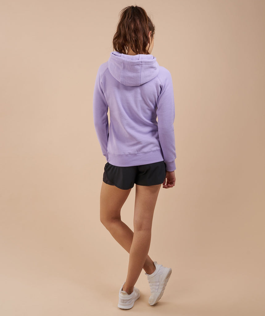 Gymshark Women's Crest Hoodie - Soft Lilac/Rich Purple 2