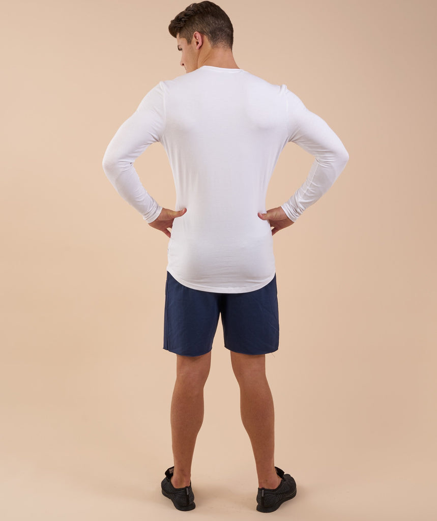 Gymshark Solace Longline Long Sleeve T-shirt - White 2