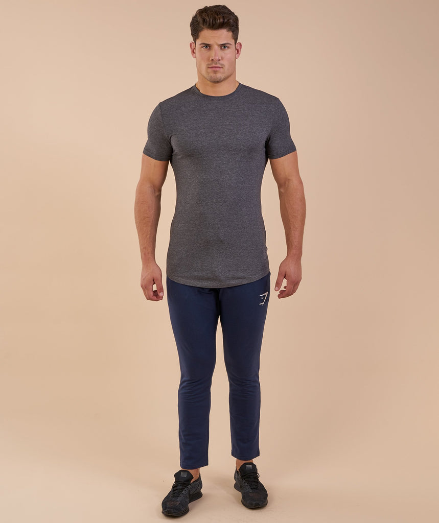 Gymshark Solace Longline T-Shirt - Charcoal Marl 1