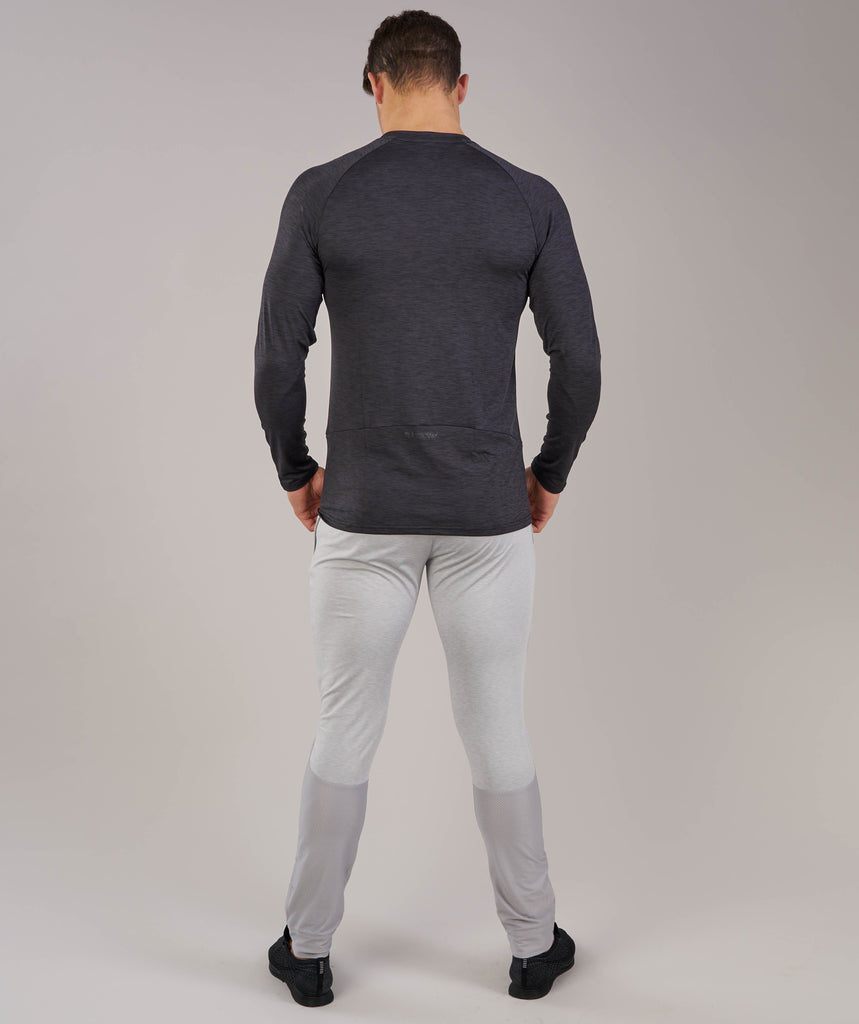Gymshark Apex Long Sleeve T-Shirt - Black Marl 2