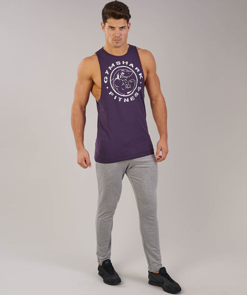 Gymshark Fitness Drop Armhole Tank - Nightshade Purple 3