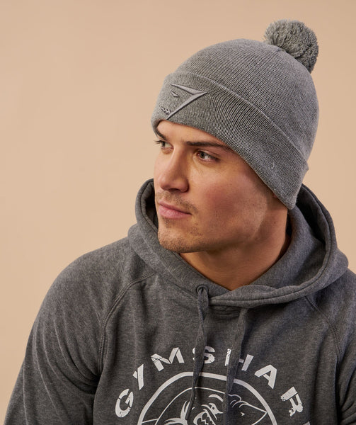 Gymshark Mens Bobble Hat - Light Grey 4