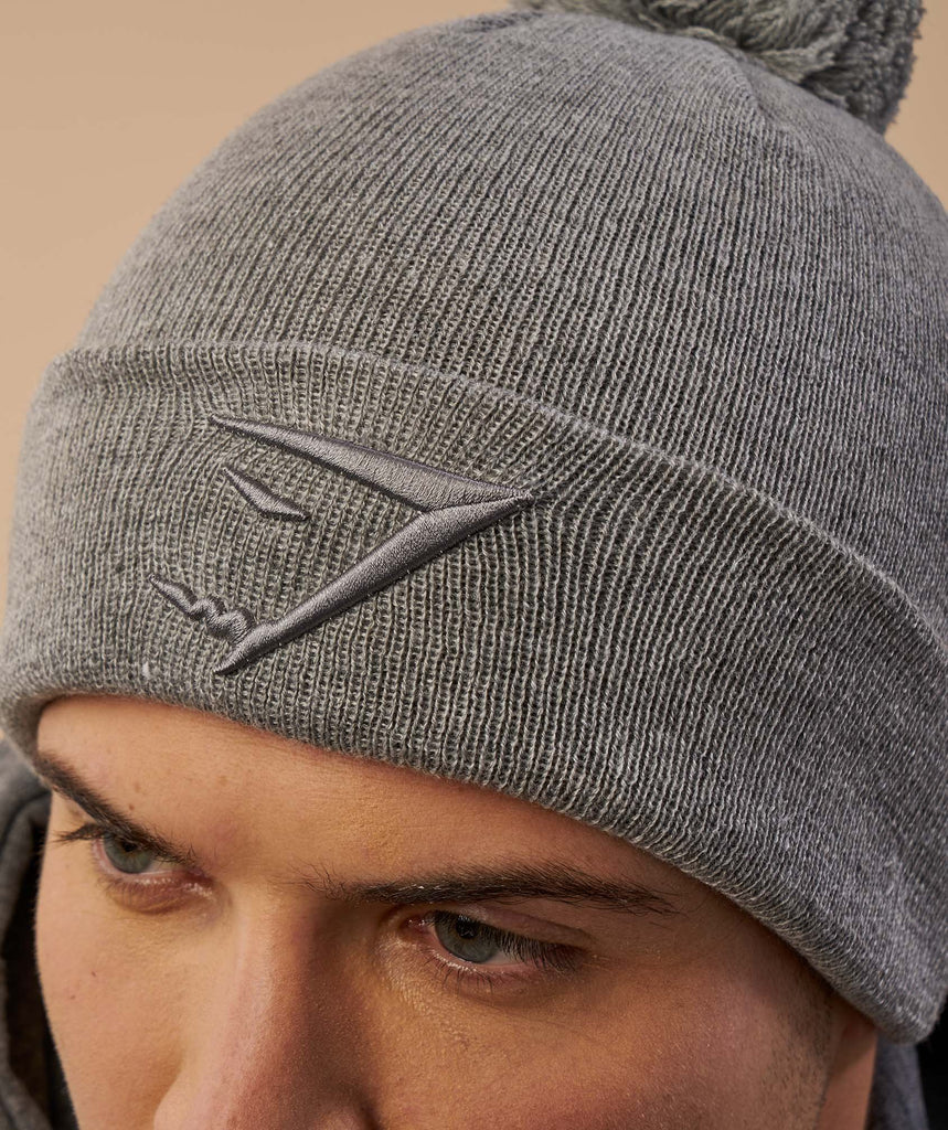 Gymshark Mens Bobble Hat - Light Grey 6