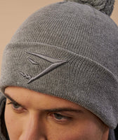 Gymshark Mens Bobble Hat - Light Grey 12