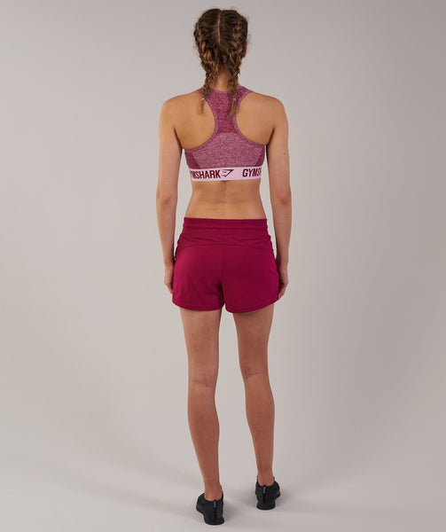 Gymshark Slouch Shorts - Beet Marl 1