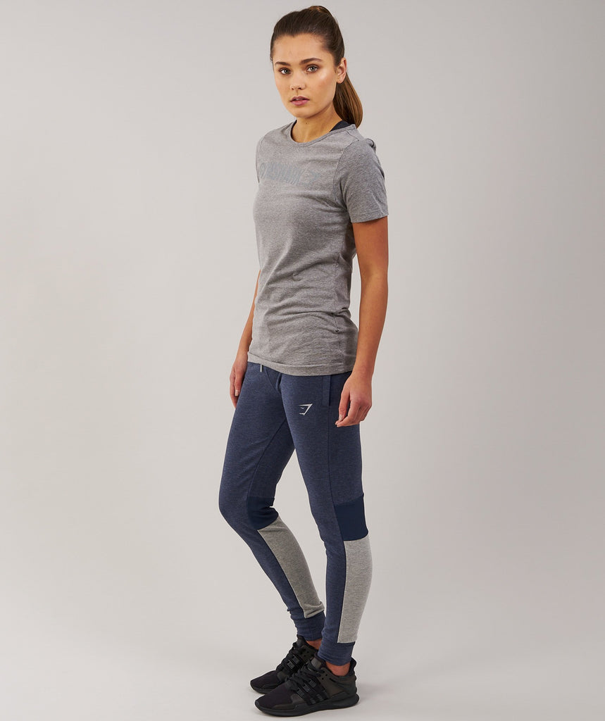 Gymshark Women's Apollo T-Shirt - Slate Grey Marl 2