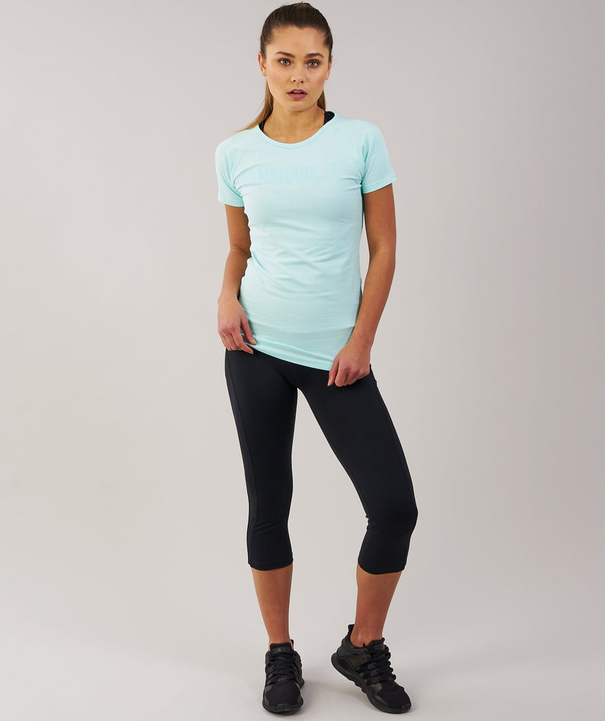 Gymshark Women's Apollo T-Shirt - Pale Turquoise 2