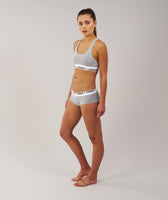 Gymshark Womens Jersey Briefs 2pk - Light Grey Marl 9
