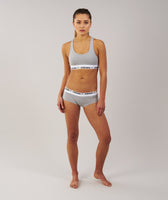 Gymshark Womens Jersey Briefs 2pk - Light Grey Marl 7