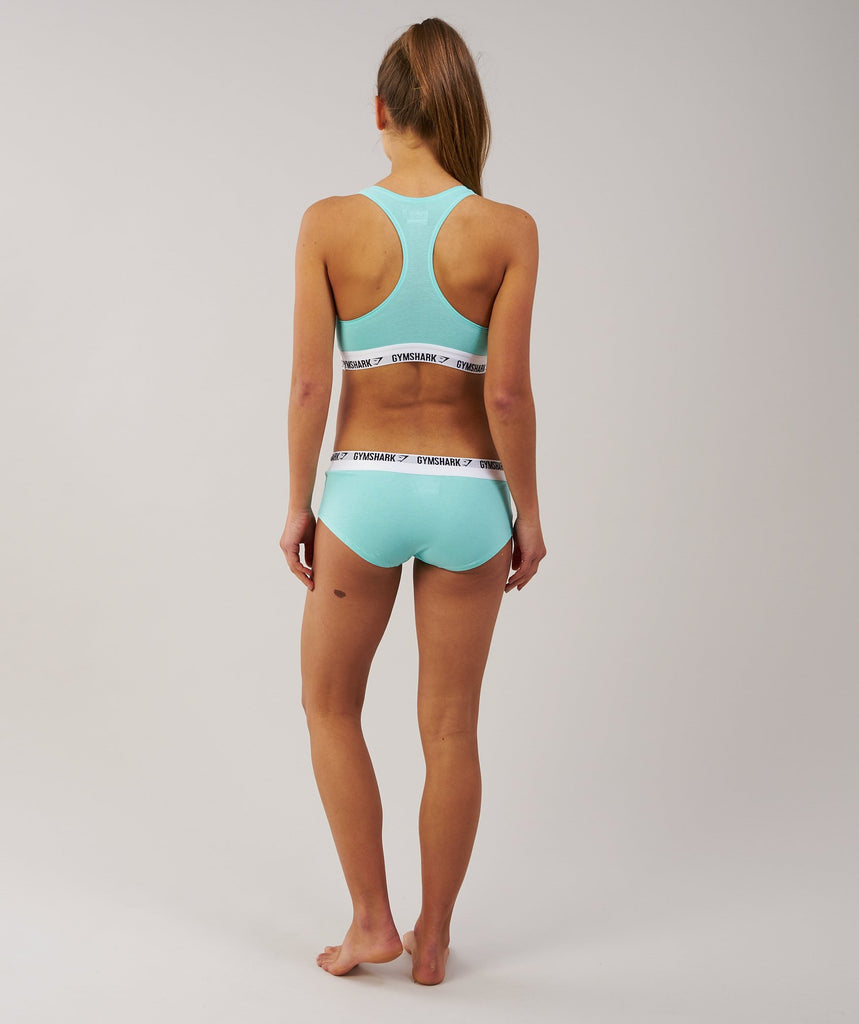 Gymshark Womens Jersey Briefs 2pk - Mint Green 2
