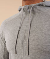 Gymshark Eaze Zip Hoodie - Light Grey 11