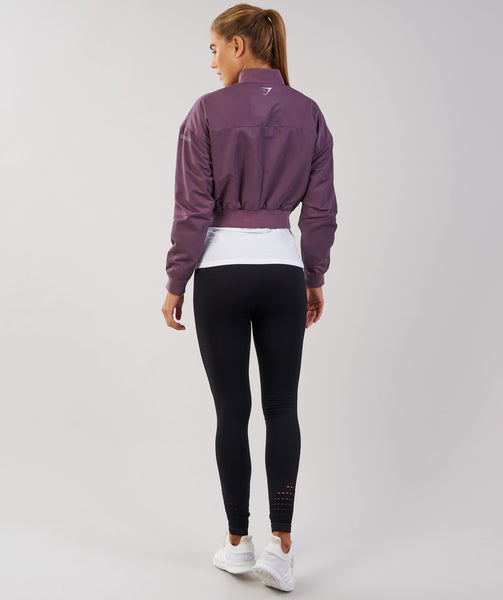 Gymshark Lo Bomber Jacket - Purple Wash 4