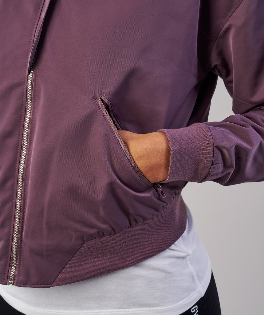 Gymshark Lo Bomber Jacket - Purple Wash 6