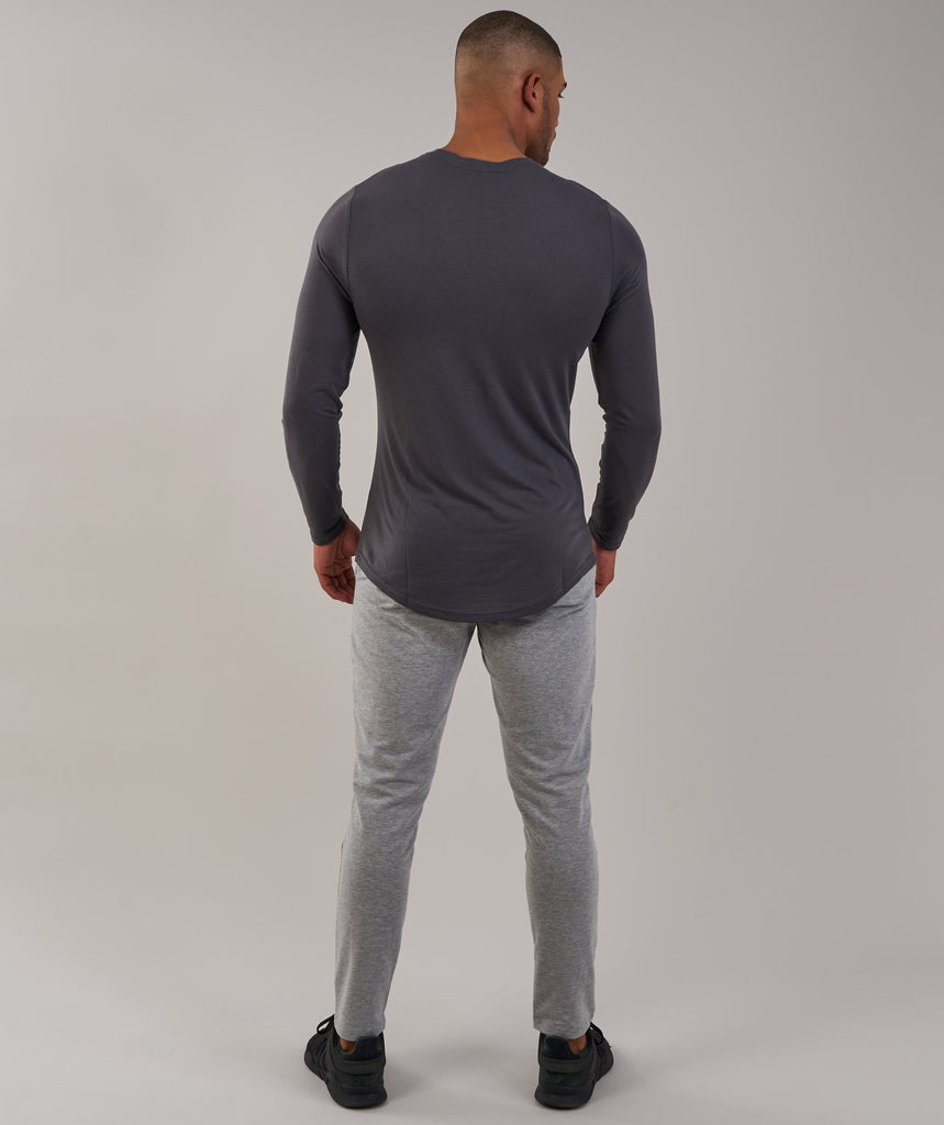 Gymshark Perforated Longline Long Sleeve T-Shirt - Charcoal 2