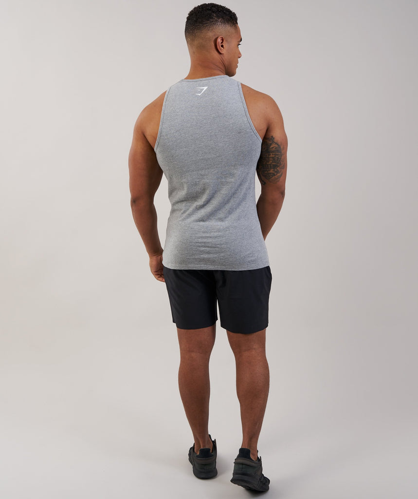Gymshark Brushed Cotton Tank - Light Grey Marl 2
