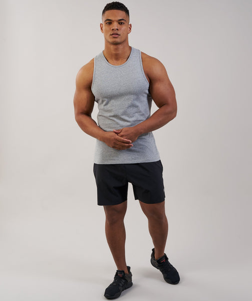 Gymshark Brushed Cotton Tank - Light Grey Marl 4