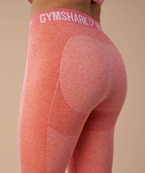 Gymshark Flex Cropped Leggings - Peach Coral 4