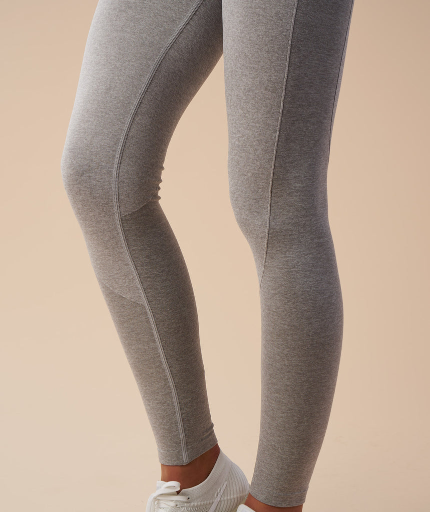 Gymshark Flex Leggings - Light Grey Marl/Chalk Pink 5