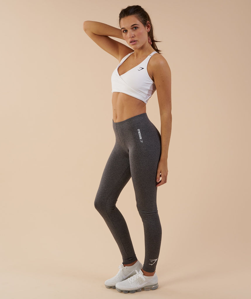 Gymshark Ark Jersey Leggings - Charcoal Marl 1