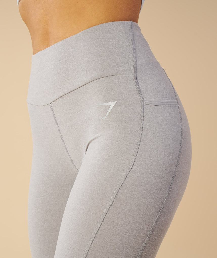 Gymshark Aspire Leggings - Light Grey Marl 2
