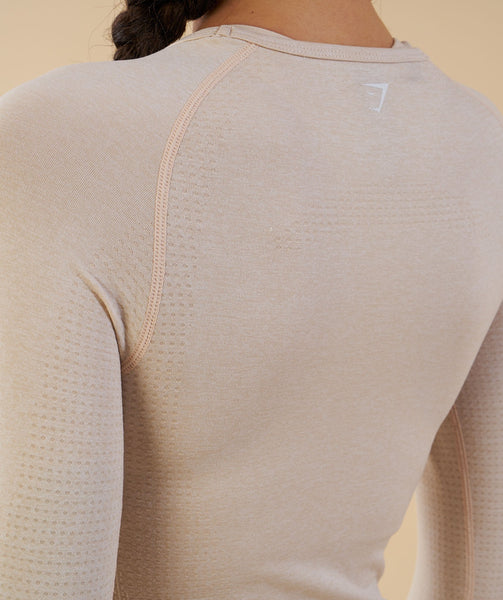 Gymshark Vital Seamless Long Sleeve Top - Sand 4