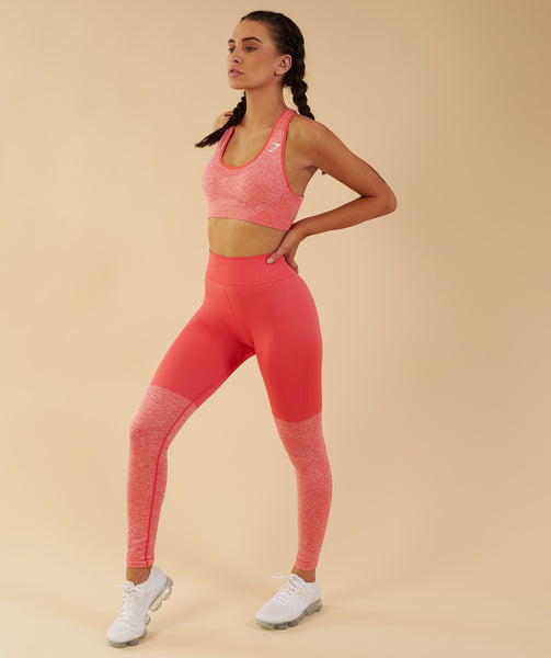 Gymshark TwoTone Seamless Leggings - Peach Coral 2