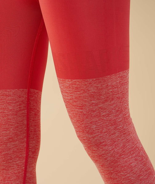 Gymshark TwoTone Seamless Leggings - Peach Coral 4