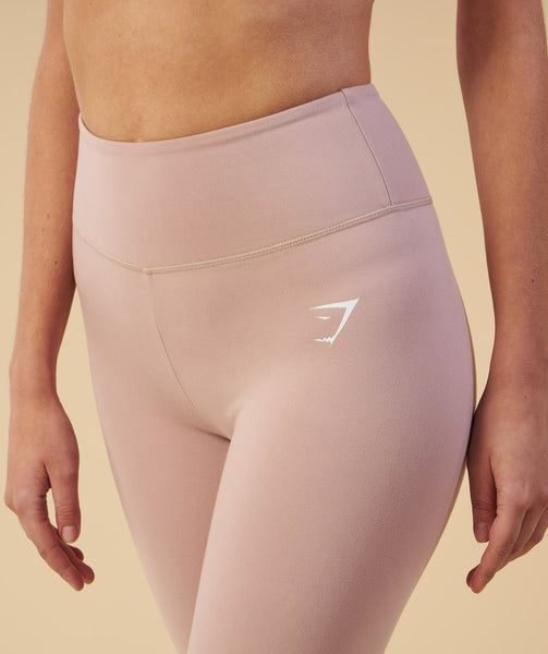 Gymshark Dreamy Cropped Leggings - Taupe 4